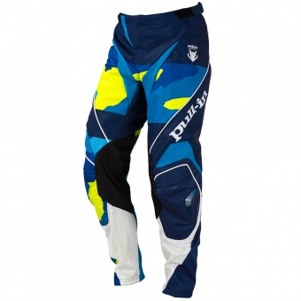 Pantalón motocross pull-in Fighter Camo Blue Neon Yellow Pant