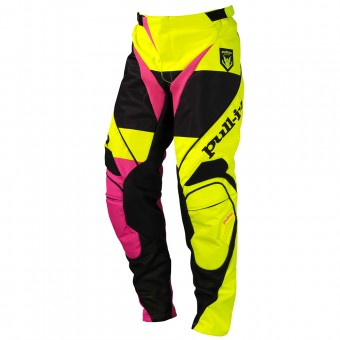 Pantalón motocross pull-in Fighter Neon Yellow Pink Pant