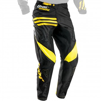 Pantalón motocross Thor Phase Strands Black Yellow Pant
