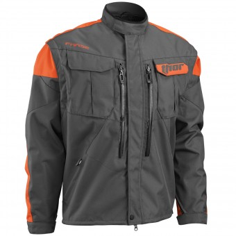 Chaqueta Motocross Thor Phase Jacket Charcoal Orange