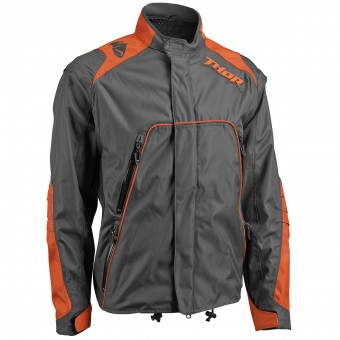 Chaqueta Motocross Thor Range Jacket Charcoal Orange