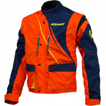 Chaqueta Motocross Kenny Track Enduro Blue Neon Orange Jacket