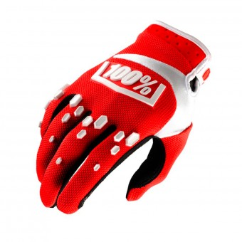 Guantes motocross 100% Airmatic Red White