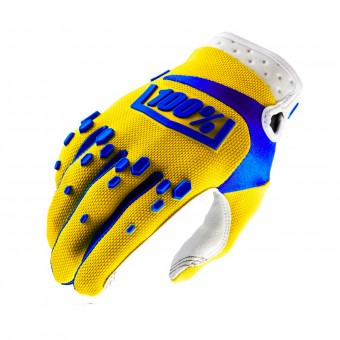 Guantes motocross 100% Airmatic Yellow Niño