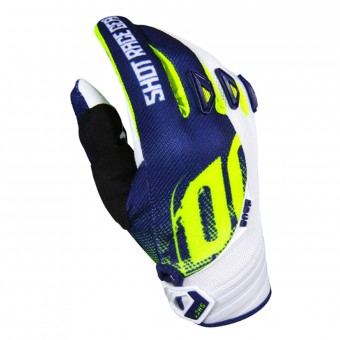Guantes motocross SHOT Devo Venom Blue Yellow Niño