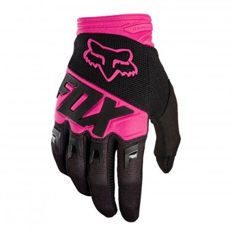 Guantes motocross FOX Dirtpaw Race Black Pink Niño 285