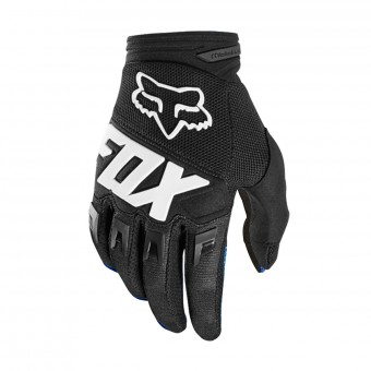 Guantes motocross FOX Dirtpaw Race Black White Niño 001