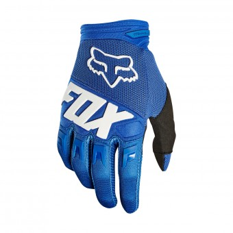 Guantes motocross FOX Dirtpaw Race Blue White Niño 002