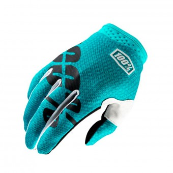 Guantes motocross 100% Itrack Teal Niño
