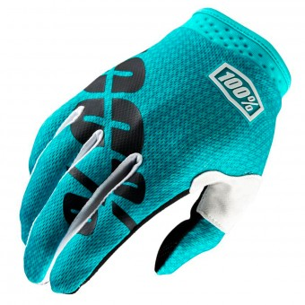 Guantes motocross 100% Itrack Teal