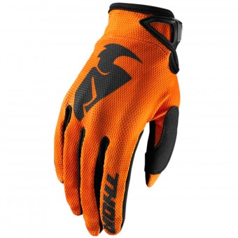 Guantes motocross Thor Sector Glove Orange Niño