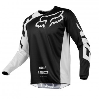 Camiseta Motocross FOX 180 Race Black White Niño 001