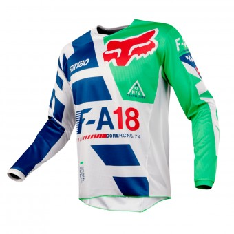 Camiseta Motocross FOX 180 Sayak Green Niño 004