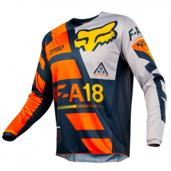 Camiseta Motocross FOX 180 Sayak Orange Niño 009