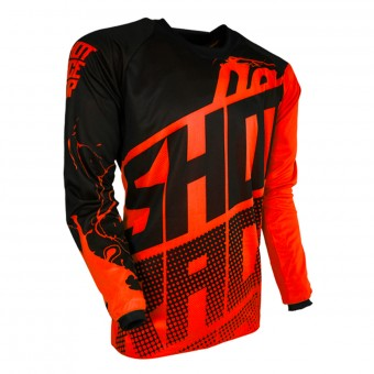Camiseta Motocross SHOT Devo Venom Neon Orange Niño