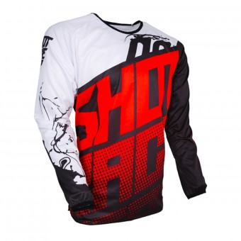 Camiseta Motocross SHOT Devo Venom Red Niño