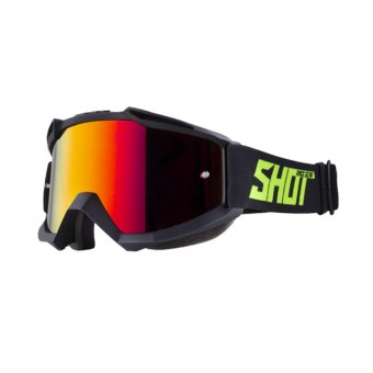 Gafas motocross SHOT Iris Black Neon Yellow Matt Iridium Red