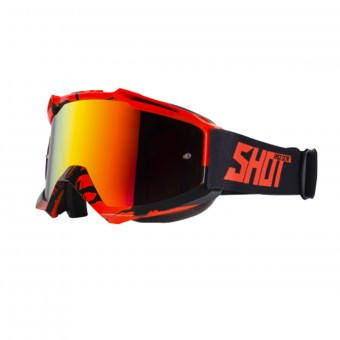 Gafas motocross SHOT Iris Recall Neon Orange Iridium Red