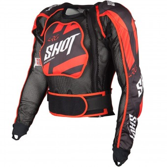 Chaleco motocross SHOT Airlight Memory Black Red Niño