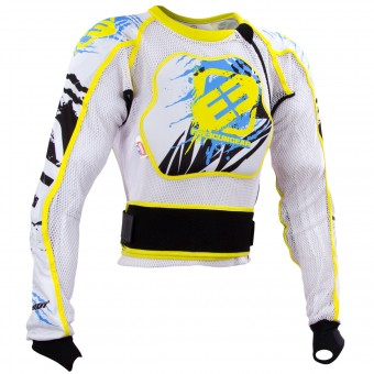 Chaleco motocross Freegun Airlight White Yellow Niño
