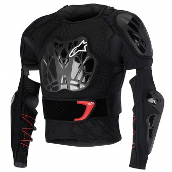Chaleco motocross Alpinestars Bionic Jacket Black Red Niño
