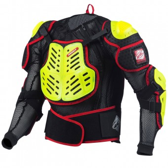 Chaleco motocross Kenny Performance Neon Yellow Red Niño