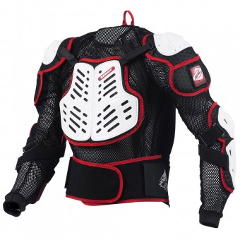 Chaleco motocross Kenny Performance White Red Niño