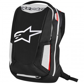 Mochila Moto Alpinestars City Hunter Backpack Black White Red