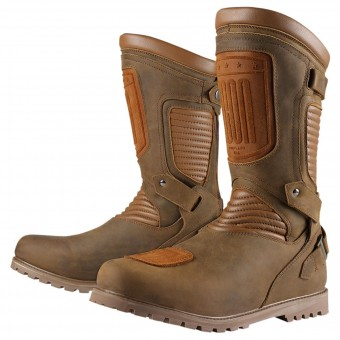 Botas Moto  ICON 1000 Prep Waterproof Brown