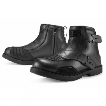 Botas Moto  ICON El Bajo Johnny Black