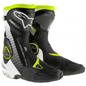 Botas Moto  Alpinestars SMX Plus Black White Yellow Fluo
