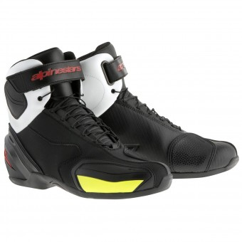 Calzado Moto Alpinestars SP-1 Boot Black White Red Yellow Fluo
