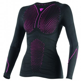 Camiseta térmica Dainese D-Core Thermo Tee LS Lady Black Pink