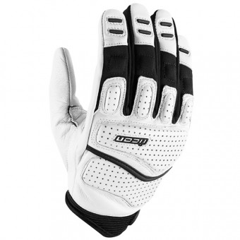 Guantes moto ICON Superduty 2 White