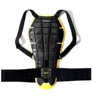 Espaldera Moto Spidi Back Warrior Evo Negro/Amarillo
