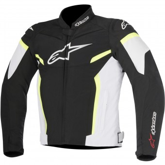 Cazadora moto Alpinestars T-GP Plus R V2 Black White Yellow Fluo