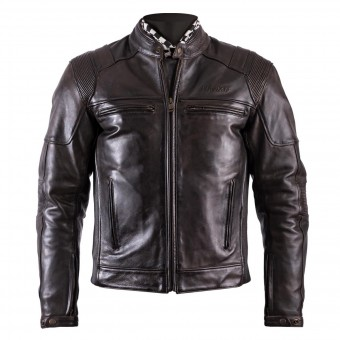 Cazadora moto Helstons Trust Leather Dirty Brown