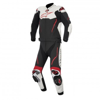 Mono Moto Cuero Alpinestars Atem Suit 2PC Black White Red
