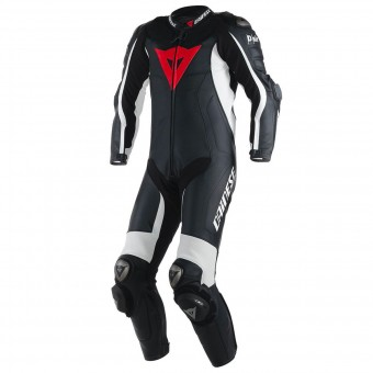 Mono Moto Cuero Dainese D-Air Racing Misano Black White
