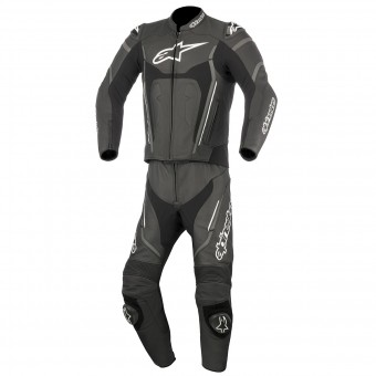 Mono Moto Cuero Alpinestars Motegi V2 2PC Black Anthracite White
