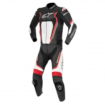 Mono Moto Cuero Alpinestars Motegi V2 Black Red White