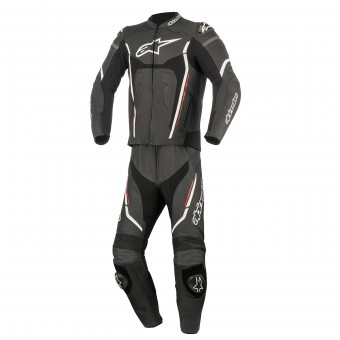 Mono Moto Cuero Alpinestars Motegi V2 2PC Black White Red