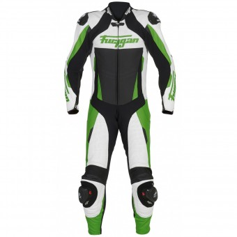 Mono Moto Cuero Furygan Full Apex White Green Black