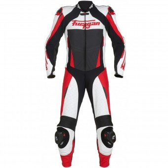 Mono Moto Cuero Furygan Full Apex White Red Black
