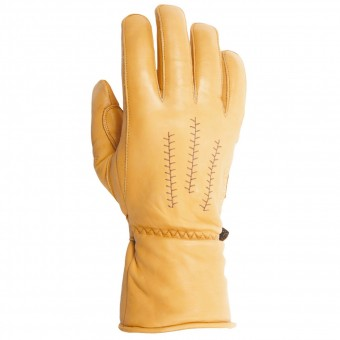 Guantes moto Helstons Jeff Leather Gold