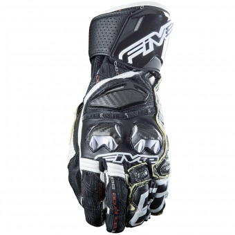 Guantes moto Five RFX Race Black White