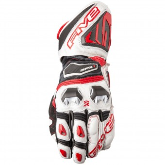 Guantes moto Five RFX1 White Red