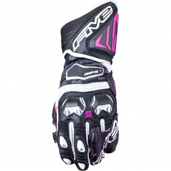 Guantes moto Five RFX1 Woman Black White