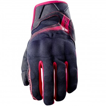Guantes moto Five RS3 Black Red