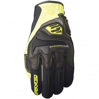 Guantes moto Five RS4 Black Yellow Fluo